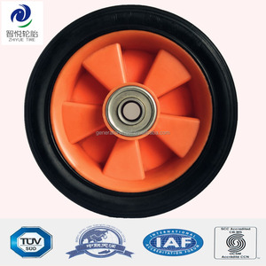 7 inch rubber caster wheel and polyethylene wheels