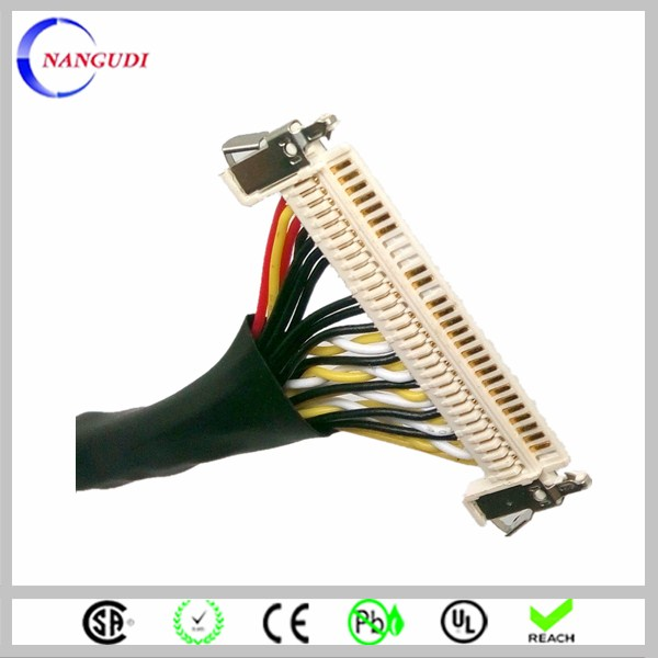 Lvds connector 20 pin twisted cable