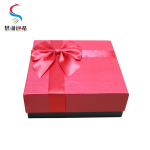 Custom OEM professional color red ribbon gift box