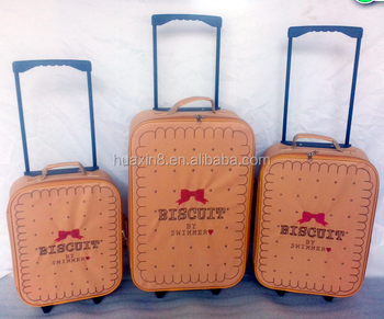 2015 The embroidery Promotional Shopping Foldable Trolley Luggage