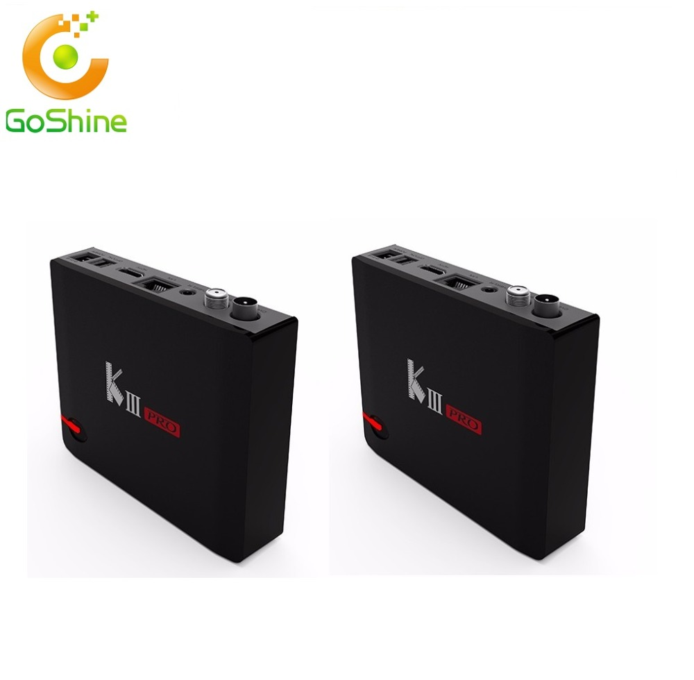 Goshine Mecool Kiii Pro Amlogic S912 Hybrid Tv Box Dvb S2- T2 4k Satellite  Receiver 2 4g+5g Dual Band Wifi Bt 4 0 Media Player - Buy Amlogic S912
