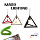 MASO 2017 Newest Maso Modern Simple Hollowed pebble Resin Pendant Light Red White Black Color MS-P1053 indoor lamp