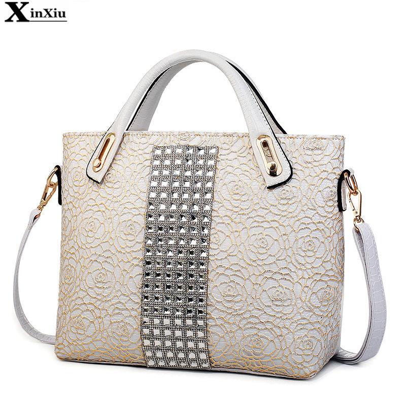 Get Quotations · New Women Messenger Bags Hollow Lace Handbags Crocodile  Pattern Shoulder Bag Designer Bags Handbags Women Famous 03a714a8c5a37