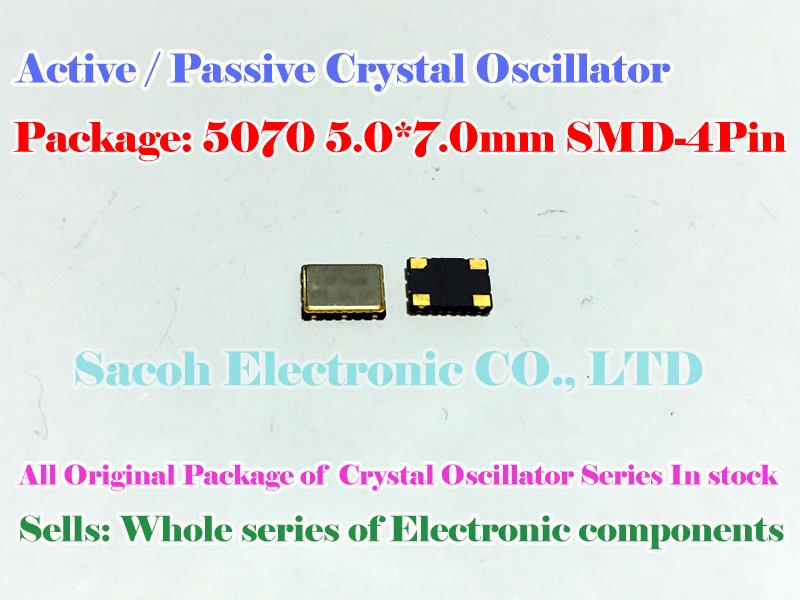 Active crystal 5070 7050 73M 74M 75M 74.000MHZ 74MHZ SMD 5*7mm Crystal Oscillators