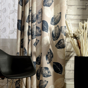 High S Volume Digital Printing Country Style Office Window Curtain