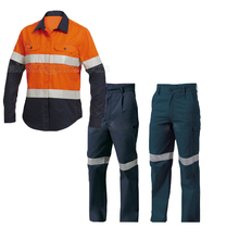 Jackets and pants Style/ Workwear Product Type/ hi vis workwear uniform with flame retardent fabric