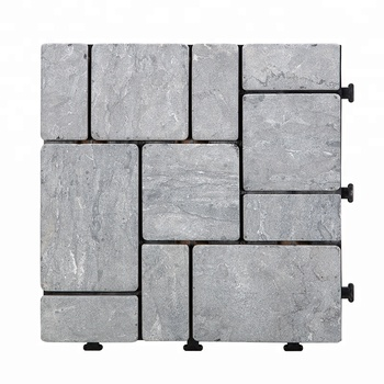 Grey color China travertine stone in marble DIY floor tiles for swimming pool surround