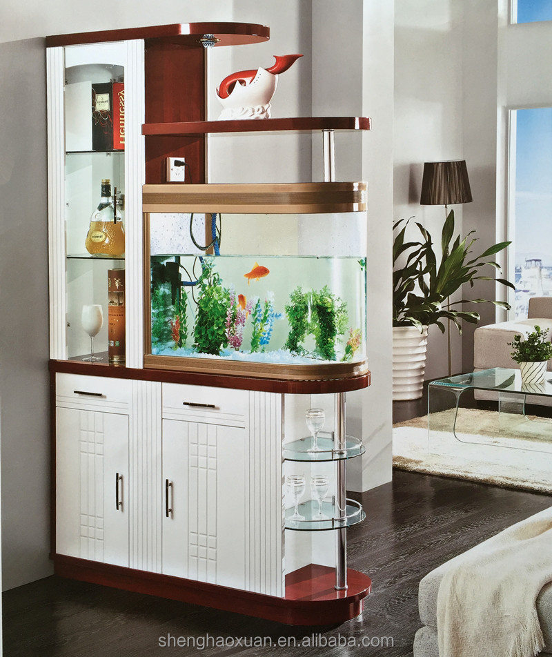 hot selling glass room dividers with fishbowl s971 living