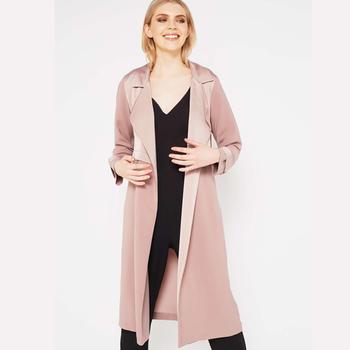 Glanz Mode Dame Mantel Duster Buy Großhandel Mantel pulver Herbst Blush Lange Matt Pulver Langen Erröten 9WDIYH2E