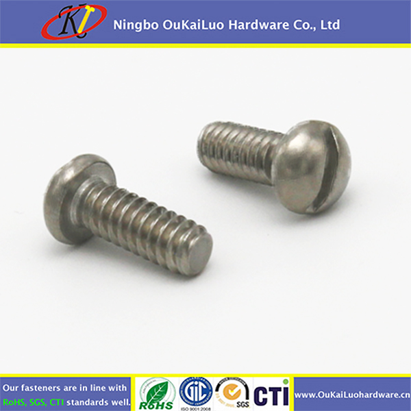 High precision 304 Stainless steel slotted truss/pan head machine screw