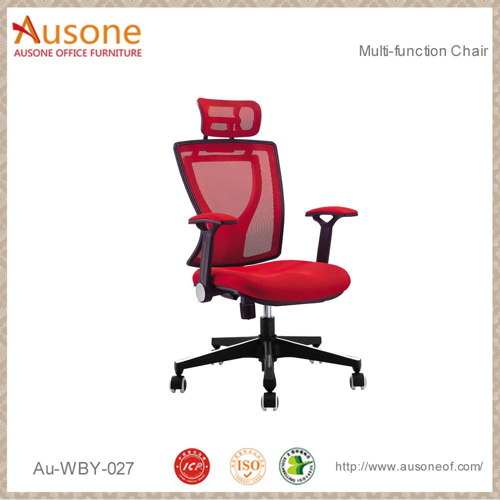 Unique Style Red Mesh Executive Chairs Luxury Reclining Office Chair