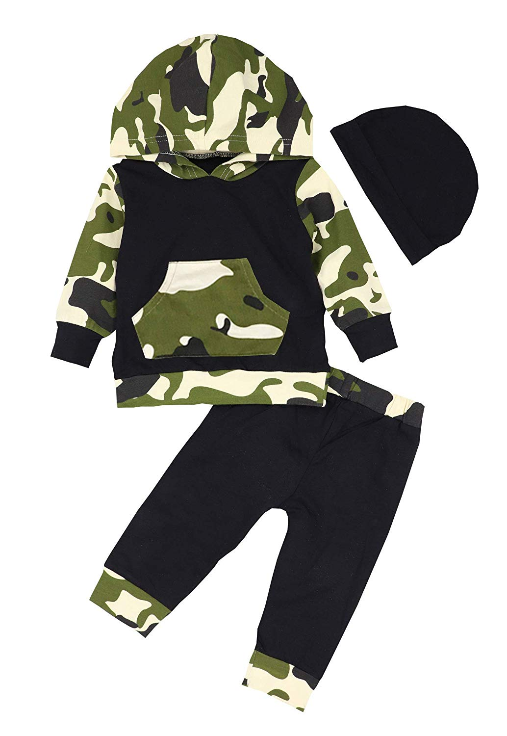 Hoodie Camouflage Print Tops Mother & Kids Boys' Baby Clothing Pants Infant Baby Girls Clothes Sets Outfits Camouflage Camo Hoodie Tops Long Pants Outfits Terrific Value