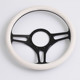 China Black 350MM/14inch Half Wrap Billet Steering Wheels for Ford GM
