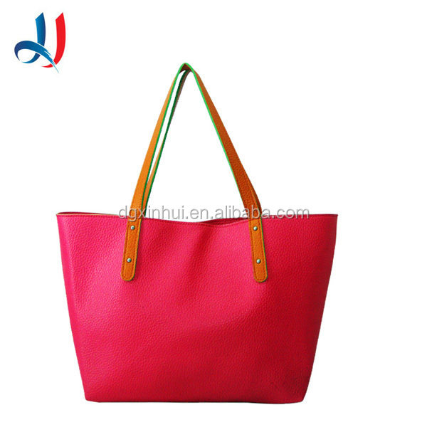 2015 Manufacture Personalized Red PVC Handbag Luxury Exotic Designer Bag Women With Bowknot
