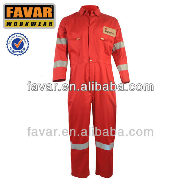 100%cottton red Coverall for boilor worker
