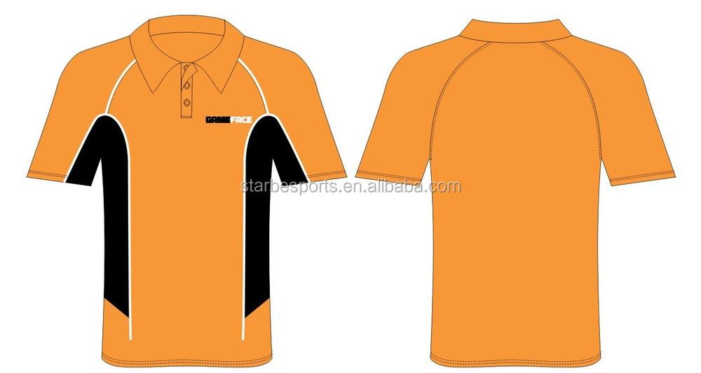 Custom Cheaper Staff Orange Polo Shirt For Company Design