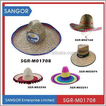 Baratos por atacado de Palha Chapéu Sombrero Mexicano Para A Promoção 3027726040c