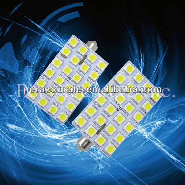 Hot-selling 24 SMD 5050 Festoon LED Light For VW Golf Car Auto Interior Side Light Marker Light