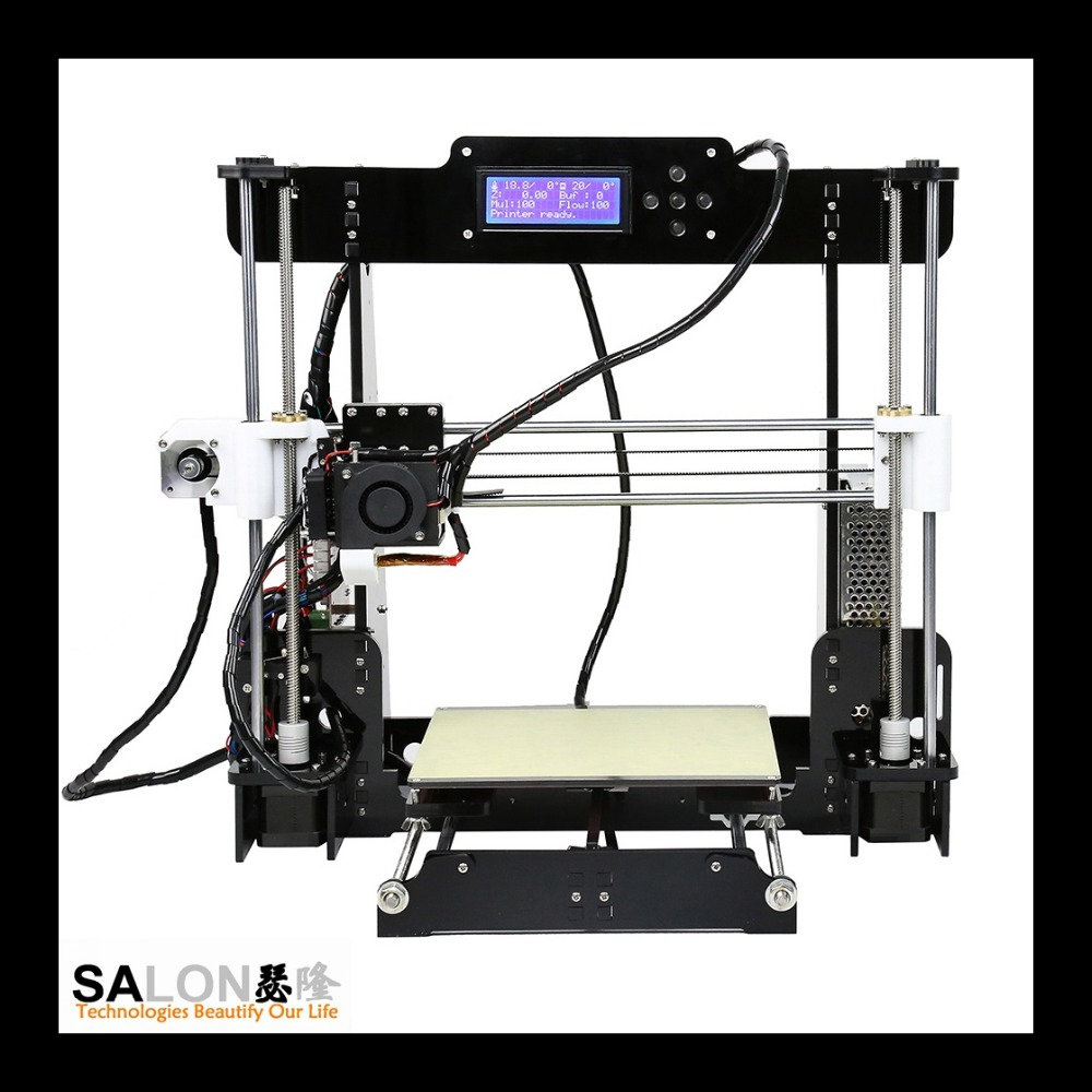 Fabricants Machine D'impression, DIY Mini 3D Machine, double Extrudeuse 3D Imprimante pour Muti-couleurs Filaments