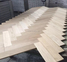 Herringbone oak parquet flooring