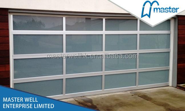Aluminum Glass Panel Garage Door Electric Glass Garage Port Buy