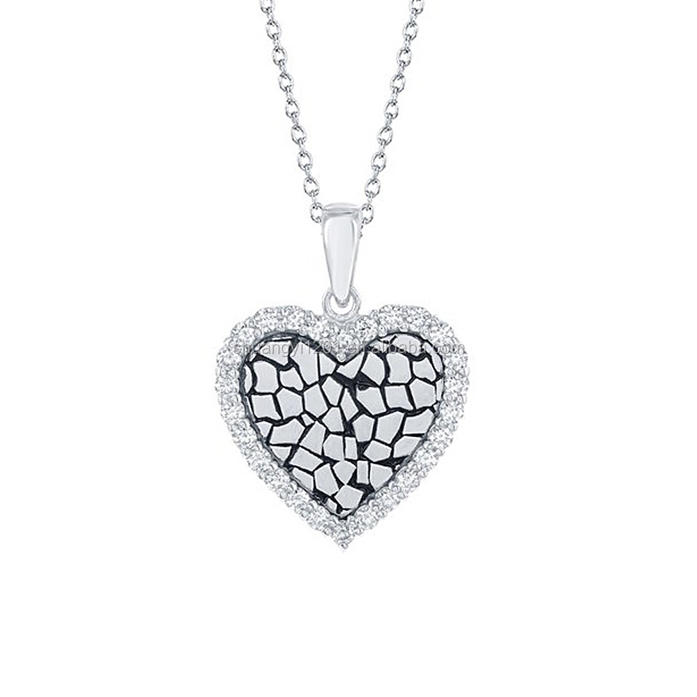 Long Thin Chain Jewelry With Rhinestone Crystal Pebble Hearts Charms Necklaces