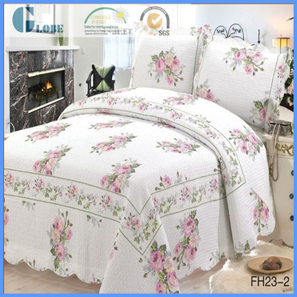 double fleur rose coton patchwork couvre lit couette id de produit 60080651626. Black Bedroom Furniture Sets. Home Design Ideas