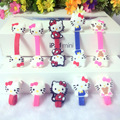 50pcs lot Cute KT Cable Winder Earphone Winder Earbud Silicone Cable Cord Holder Cable Wire Organizer