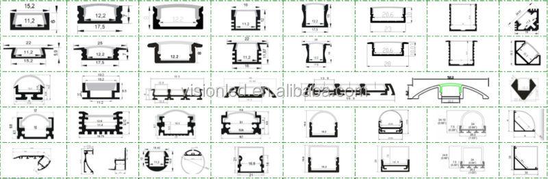 Led Aluminum Profile For Wall And Corridor Aisle 7026