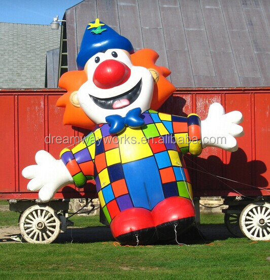 Cute inflatable clown cartoon character,inflatable cartoon for kids