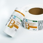 Custom packaging logo printing metallic sticker labels for Vitamin B C complex tablets