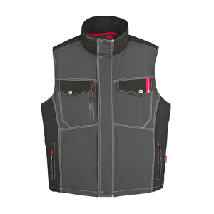 Mens work safety uniform design waistcoat bodywarmer custom