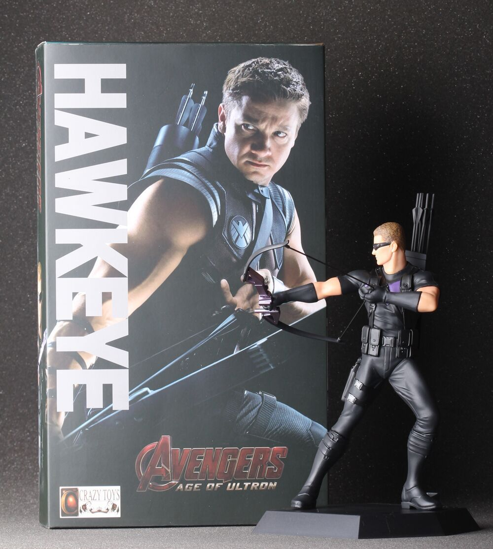 23cm Marvel Anime The Avengers Action Figures Hawkeye Garage Kits with Gift  Box for Children Super Hero Hawkeye Model 6442e4cc2f93a