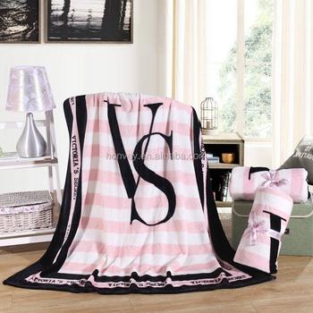 Bon 130x150cm Pink Vs Secret Blanket Manta Fleece Blanket Throws On Sofa/bed/plane  Travel Plaids Bedding Set   Buy Fleece Blanket,Fleece Throw,130x150cm Throw  ...