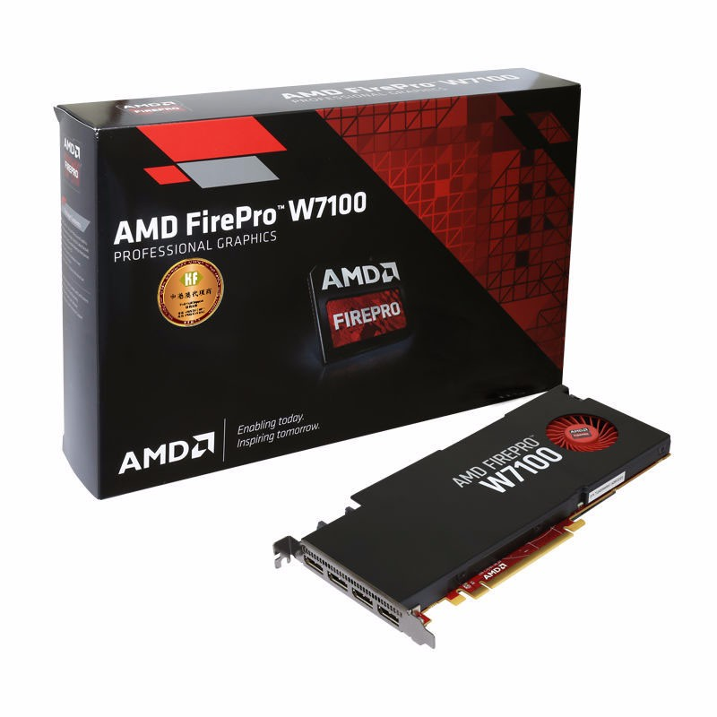 AMD FirePro W7100 8gb 256 bit GDDR5 PCIe 3.0 x16 DP displayport 3D workstation graphic card