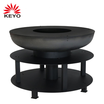 Multi Functional 40 Inch Round Shaped Firepit Bbq Outdoor Barbecue