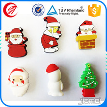 Promotional OEM customized Christmas gifts rubber USB keychain
