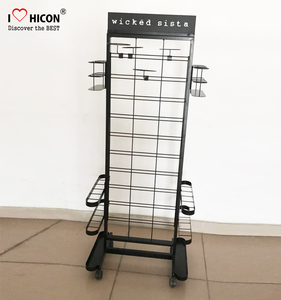 Concept Creation Product Development Retail Store Metal Rack Umbrella Display Stand With Casters