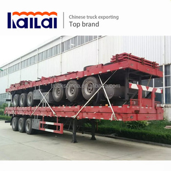 New 40ft Flatbed Semi Trailer 3 Axle Side Lift Container Semi Trailer For  Sale - Buy Container Semi Trailer,Flatbed Semi Trailer,Truck Trailer  Product