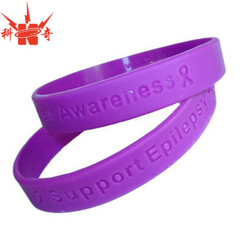 Por Epilepsy Awareness Purple Silicone Wristband