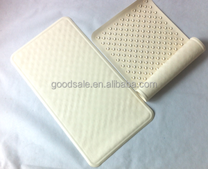 white Rubber Bath Mat non slip bath tub mat with suction cups 35x65cm