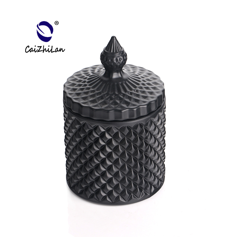 Hot Sale China Products Custom Matt Black Color Glass Candle Holder,Candle Holder Glass,Crystal Candle Holder