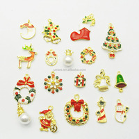 Different Kinds Enamel Alloy Christmas Tree Charms