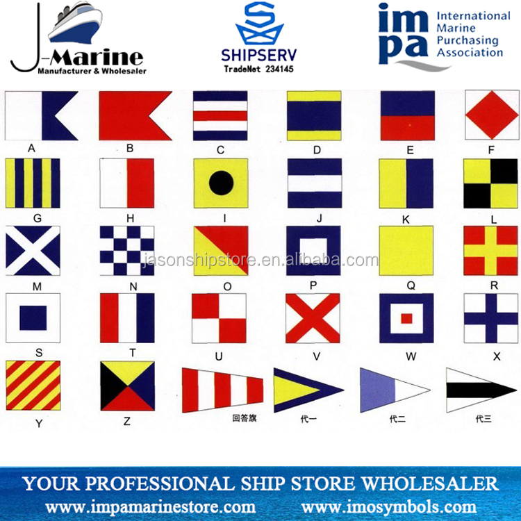 International Navigation Signals Flags For Marine Use