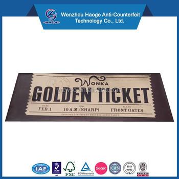 custom roll tickets