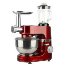 Multi-functional domestic stand food mixer kitchen machine dough kneading machine 3 in 1 with blender grinder