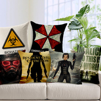 Refinement Pillow Case Resident Evil Apocalypse Movie Characters Pillowcase Decorative Pillows Cubiertas Del Amortiguador