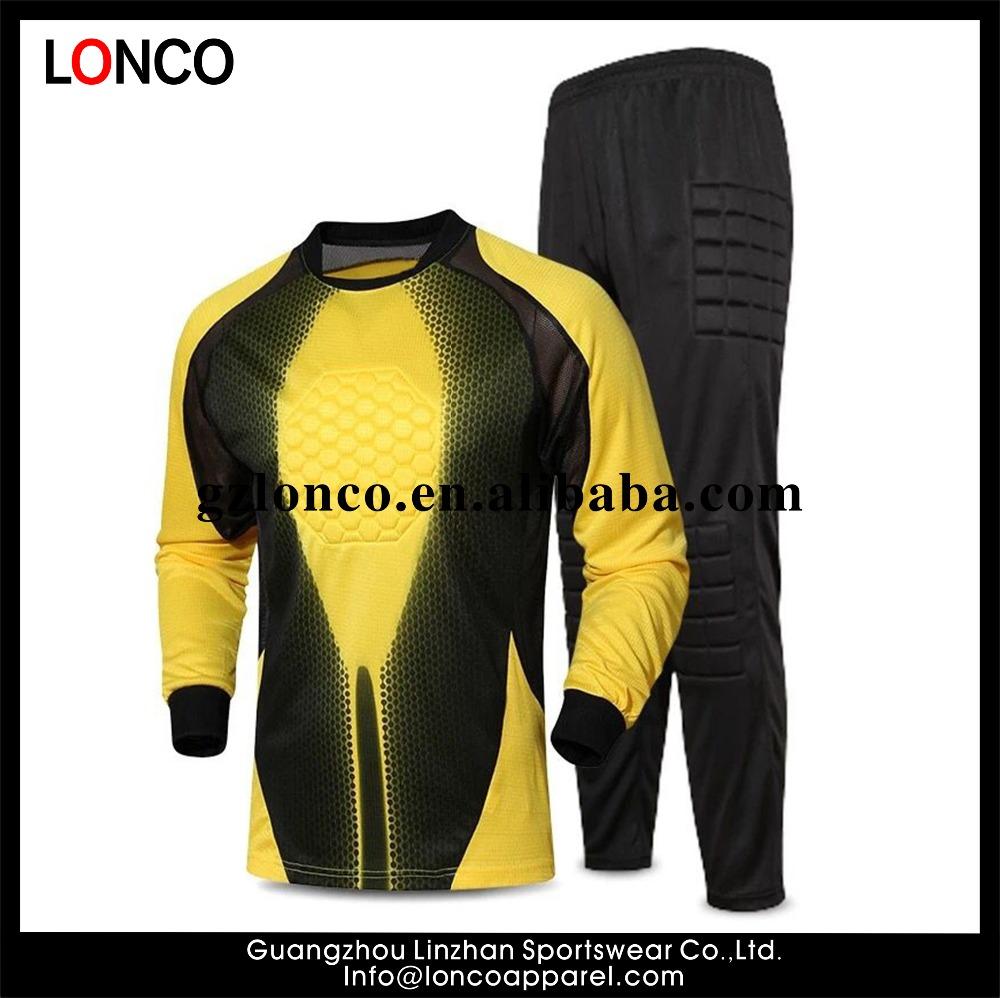 ae36de764e0 2017 Adult Soccer Goalkeeper Uniform Mens Goal Keeper Uniforms ...