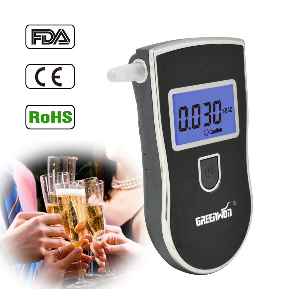 High precision breath analyzer black breathalyzer alcohol tester