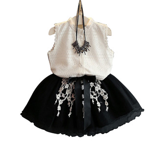 New fashion model lace feeling baby girls party children girl dress